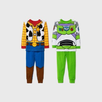 Toy Story Toddler Boys' 4pc Pajama Set - Blue/Yellow/Green