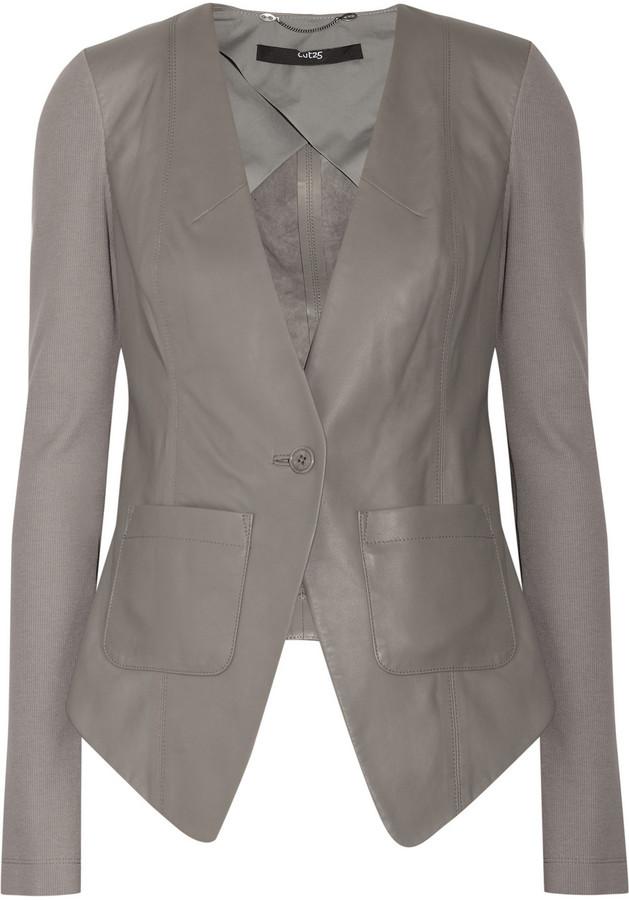Cut25 Contrast leather jacket