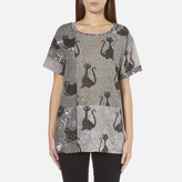 Marc Jacobs Women's Skater Patchwork Cat TShirt - Grey/Multi