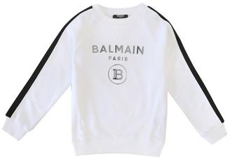 Balmain Kids Logo cotton sweatshirt