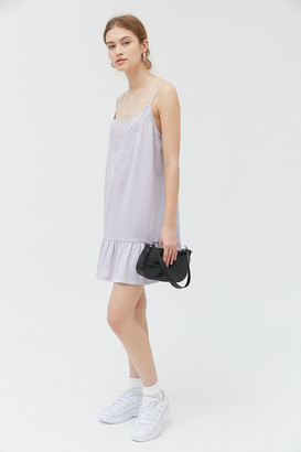 Urban Outfitters Lily Pad Satin Frock Dress