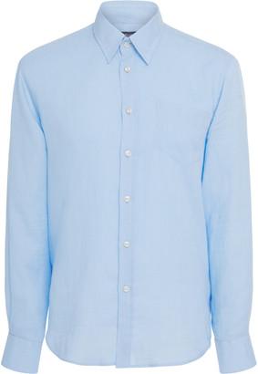 Vilebrequin Caroubis Sky Blue Linen Shirt