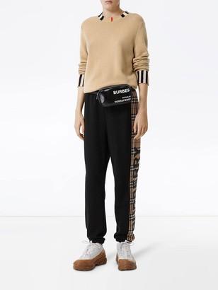 Burberry Icon Stripe Trim Sweater