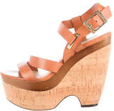 Rachel Zoe Leather Platform Wedges