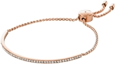Michael Kors Brilliance Rose Gold Tone Metal Bracelet w/Crystals
