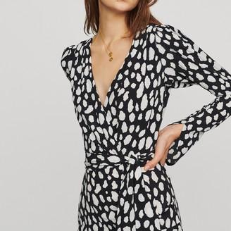 Maje Short gathered printed dress