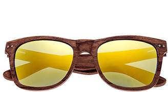 Earth Wood Cape Cod Sunglasses W/Polarized Lenses - Red Rosewood/Yellow