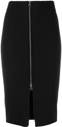 Pinko Front Zip Pencil Skirt
