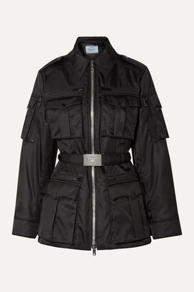 Prada Belted Shell Jacket - Black