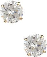 Candela 14K Yellow Gold 5mm CZ Stud Earrings