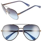 Oscar de la Renta Women's '210' 61Mm Aviator Sunglasses - Black