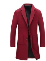 Zhhmeiruian Men's Trench Coat Winter Long Jacket Overcoat Business Outerwear