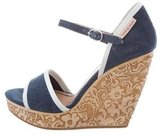 See by Chloe Denim Platform Wedge Sandals
