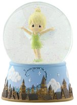 Precious Moments Precious Moments, Disney Showcase Collection, Tinker Bell Over London Skyline, Resin Musical Snow Globe, 113104