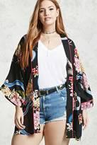 Forever 21 FOREVER 21+ Plus Size Floral Kimono