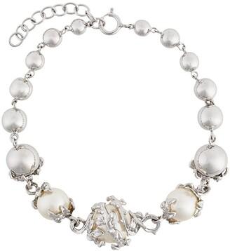 Kasun London Orb & 3 Pearls Bracelet