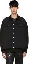 Diet Butcher Slim Skin Black Oversized Denim Jacket