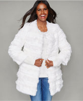 The Fur Vault Lamb-Trim Rabbit Fur Jacket