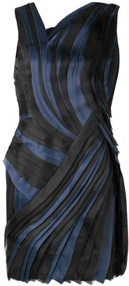 Lanvin Pleated Asymmetric Mini Dress