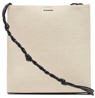 Jil Sander Tangle Medium Braided-strap Canvas Shoulder Bag - Ivory Multi