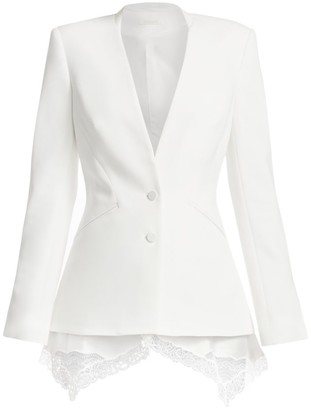 Jonathan Simkhai Lace Trim Crepe Basque Jacket
