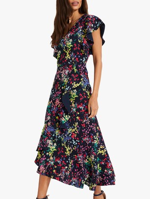 Phase Eight Sheldon Floral Print Dress, Navy/Multi