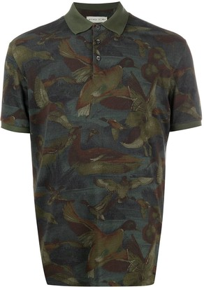 Etro Duck Print Polo Shirt