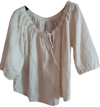 Swildens White Cotton Top for Women