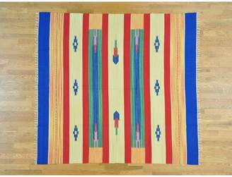 Isabelline One-of-a-Kind Atharv Squarish Southwestern Design Killim Handwoven Wool Area Rug Isabelline