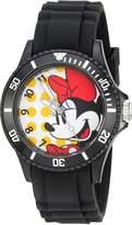 Disney Women's 'Minnie Mouse' Quartz Plastic Automatic Watch, Color: (Model: W002807)
