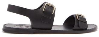 Grenson Lorenzo Buckled Leather Sandals - Mens - Black