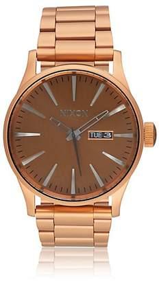 Nixon Men's Sentry SS Watch - Rust, Copper