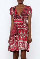 Angie Printed Wrap Dress