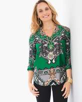 Chico's Paisley Peasant Top