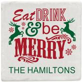 Personal Creations Set of 4 Personalized Eat Drink & Be Merry Coasters