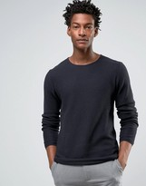Troy Textured Sweater With Crew Neck