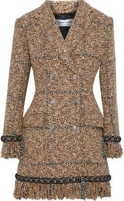 Sonia Rykiel Double-breasted Crystal-embellished Tweed Coat