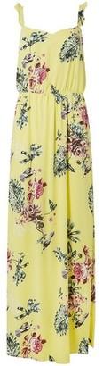 Dorothy Perkins Womens **Vila Yellow Floral Print Maxi Dress