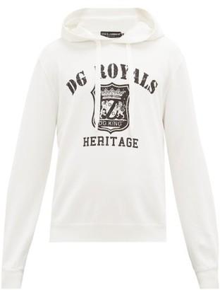 Dolce & Gabbana Logo-print Cotton Hooded Sweatshirt - White