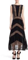 Tracy Reese Women's Lace & Velvet Combo Midi Dress