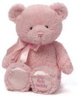 """Gund My first Teddy Pink 10"""""""