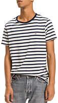 Tommy Hilfiger Tommy Jeans Crew Neck Cotton Stripe T-Shirt, Black Iris