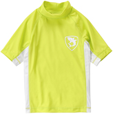 Crazy 8 Wild Lime Pieced Mock Neck Rashguard - Boys