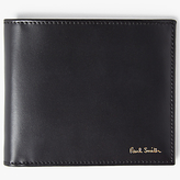 Paul Smith Interior Stripe Bifold Leather Wallet, Black