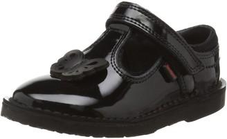 Kickers Girl's Adlar Flutter T-Bar Patent Black Leather Shoes
