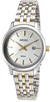 Seiko SUR793P1 Women's Neo Classic Two-Tone Stainless Steel Silver-Tone Dial