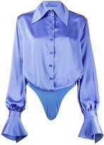 Thierry Mugler pointed collar long sleeve shirt