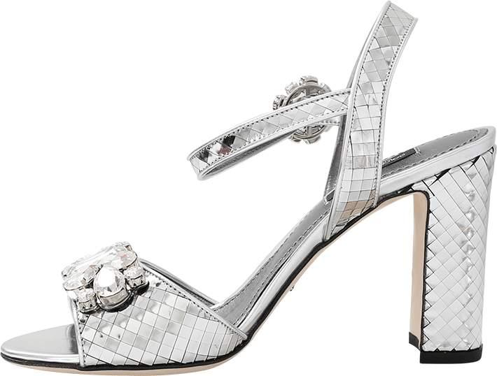 Dolce & Gabbana Crystal Silver Sandal