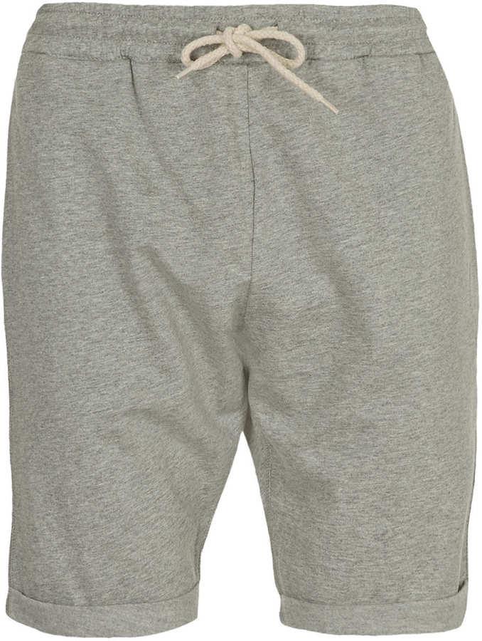 Topman Grey Jersey Shorts