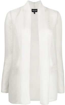 Giorgio Armani Textured-Sheer Lightweight Jacket
